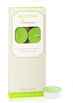 Elume Lemongrass Scented Tealight Candles