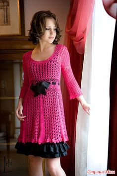 Free and Awesome Crochet Dress Patterns for This year 2020 Part 29 ; crochet dress for women; Col Crochet, Crochet Motifs, Crochet Woman, Free Crochet, Crochet Patterns, Crochet Tunic, Booties Crochet, Freeform Crochet, Crochet Tops