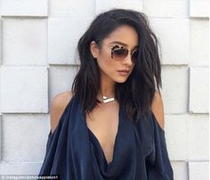 To chop or not to chop? Shay Mitchell, 29, gives the long bob a try with the help of a wig and some hair wizardry from stylist Chris Appleton