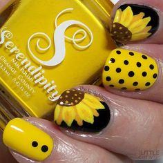 brush nail designs airbrush makeup nail art designs nail makeup hansen chrome nail makeup makeup ideas and makeup salon design hansen chrome nail makeup pure chrome brush nail designs airbrush makeup Fingernail Designs, Toe Nail Designs, Pedicure Designs, Cute Nail Art, Easy Nail Art, Sunflower Nail Art, Yellow Nails, Nagel Gel, Nail Tutorials