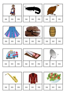 Kolíčkování - slabiky sa, so, su Home Schooling, Activities For Kids, Playing Cards, Language, Education, Speech Language Therapy, Children Activities, Playing Card Games, Languages