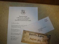 Harry Potter invitation -- letter from Professor McGonagal