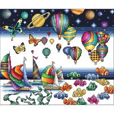 The Colors Of Life Counted Cross Stitch Kit11.875inX10in 16 Count
