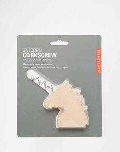 A unicorn with a corkscrew horn.