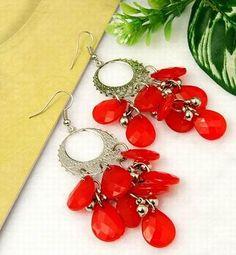 Handmade Acrylic Earrings, eye-catching design and color