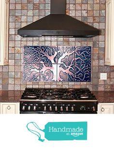 Tree of life , backsplash, kitchen backsplash, 8 tiles design, custom size available, backsplash tiles from MyCopperCraft https://www.amazon.com/dp/B071FVBGRZ/ref=hnd_sw_r_pi_awdo_8WFCzb8TAQBDG #handmadeatamazon