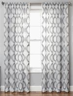 "Cordon Sheer Style Curtains in 84"", 96"", 108"" inch length and 120"" inch curtains; grommets or rod pocket with backtabs 