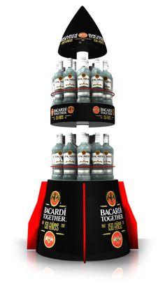 BACARDÍ on Behance Drink Display, Pos Display, Display Design, Product Display, Exhibition Booth Design, Exhibition Stands, Exhibit Design, Bacardi, Merchandising Displays