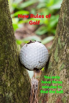 Golf Rules The new rule about lost balls only gives you three minutes instead of five to find the ball. Faster golf or more frustration? You choose. Golf Gadgets, Golf Etiquette, Golf Chipping Tips, Golf Simulators, New Golf, Golf Quotes, Golf Gifts, Golf Fashion, Ladies Golf