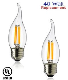 Luxrite lr21266 4pack yellow led filament candelabra light bulb luxrite lr21266 4pack yellow led filament candelabra light bulb 4watt equivalent to 40w incandescent bright yellow color 350 lumens 15000 hr life e aloadofball Images
