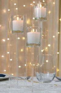 Clear Votive Candle  Riser
