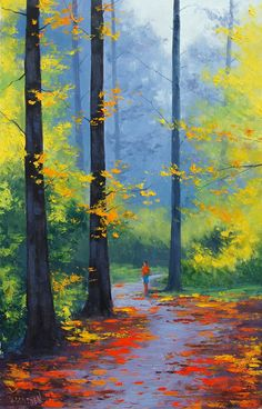 Kai Fine Art is an art website, shows painting and illustration works all over the world. Watercolor Landscape, Landscape Art, Landscape Paintings, Watercolor Paintings, Landscapes, Painting Art, Paintings Of Nature, Autumn Painting, Autumn Art