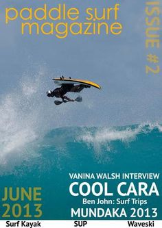 In Issue two of Paddle Surf Magazine there are some great articles, interviews and photos by some of the best waveskiers, SUP surfers and Surf Kayakers in the world. It includes the likes of David Speller, Vanina Walsh and Tyler Lausten.