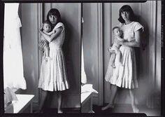 double self-portrait with daughter, doon, 1945 • diane arbus