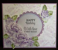 SU Stippled Blossom window card by Norma Makowski