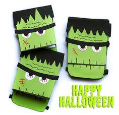 DIY Frankenstein Einladungen für Halloween + Vorlage - Jolijou