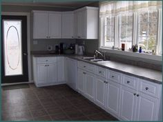Custom kitchens designed with your style, needs, storage requirements and your budget in mind. We are with you every step - design through installation. Light Kitchen Cabinets, Painting Kitchen Cabinets White, Painting Cabinets, White Cabinets, Kitchen Tiles Design, Modern Kitchen Design, Interior Design Kitchen, Shabby Chic Furniture, Painted Furniture