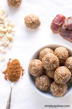 Snickerdoodle Energy Bites (gluten-free + vegan)