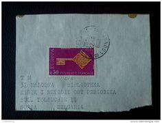RARE EUROPA 0.30 F FRANCE FRANCAISE 1968 RECOMMENDET PACKAGE-LETTRE STAMP ON PAPER COVER USED SEAL - France