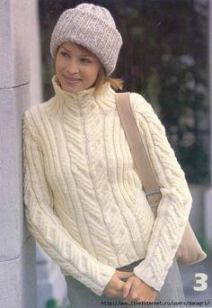 Белый джемпер - Вязание - Страна Мам