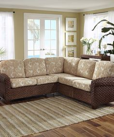 Another great find on #zulily! Cinnamon Cabana Banana II L-Shaped Sofa #zulilyfinds