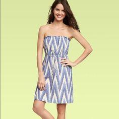 Strapless blue white dress by GAP Cute blue and white  dress by gap GAP Dresses Strapless