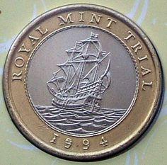 1994 - Royal Mint Trial Rare Coins, Coin Collecting, Precious Metals, British, Silver, Gold, England, Yellow, Money