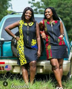 Ankara and Jeans Material : Short Gown For You . Ankara and Jeans Material : Short Gown For You African Fashion Ankara, Latest African Fashion Dresses, African Print Fashion, Africa Fashion, African Men, African Style, Modern African Fashion, Short African Dresses, African Print Dresses