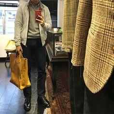 cazjl Bryceland leather tote😎#brycelandsco #baracuta #aldenshoes #denim . . #daily#dailylook#selfie#menswear#mensstyle#dailystyle#ootd#wiwt#wdywt#outfit#myoutfit#menwithstyle#styleblogger#lookoftheday#ruggedstyle#ootdshare#mnswr#lookbook 2018/01/10 19:45:20