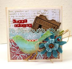 Happy Spring Card by bellepapierbyjulia on Etsy