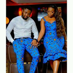 ankara mode Twin with your spouse in this outfit. Available in all sizes and other Ankara fabrics Processing takes Couples African Outfits, African Dresses For Kids, African Wedding Dress, African Dresses For Women, African Print Dresses, Couple Outfits, African Attire, African Prints, African Fabric