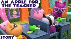 """Peppa Pig Play Doh MLP Ponyville Toy Story My Little Pony School Thomas ... #MLP #Peppapig toy story """"An apple for the teacher"""" featuring that naughty George Pig. #mylittlepony #ponyville #thomasandfriends #peppa #toys #playdoh"""