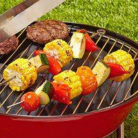 Healthy Grilling, Grilling Recipes, Veggie Recipes, Healthy Recipes, Grilling Tips, Outdoor Grilling, Kebab Recipes, Outdoor Food, Vegetable Kebabs