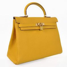 Hermes Kelly | Hermes Kelly 35CM Bags Yellow Smooth Togo Leather Gold - $289.00 ...