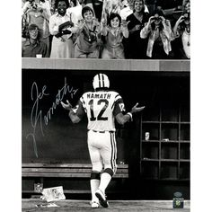 Joe Namath Signed B&W Shrug for the ladies 16x20 Photo (in silver) (Namath Holo Only)