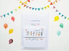 Marque place anniversaire animaux enfants par SoniaCavallini