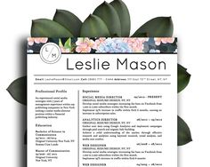 Beautiful Resume Template Elegant And Beautiful Resume Template For Microsoft Word In 3