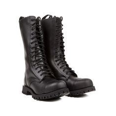 Altercore 552 Women Black Leather ($125) ❤ liked on Polyvore featuring shoes, real leather shoes, leather shoes, genuine leather shoes, black leather shoes and black shoes