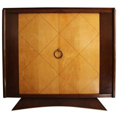 Fine French Art Deco Rosewood and Sycamore 2 doors Armoire 1