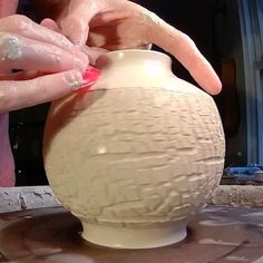 """Sodium Silicate Stretching- The song is """"Ghost"""" by @jeremymessersmith. I love this song, I could listen to it over and over! Back when videos could only be 15 seconds, I'd shown a technique called sodium silicate stretching. I wanted to now show it in more detail.  Here's how it works- First I throw a cylinder, but the pulls for this technique are different than for a normal cylinder. I'm trying to gain height, but not lose wall thickness, so it's several light pulls followed by a hard…"""