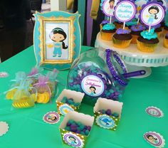 Princess Jasmine birthday party candy! See more party ideas at CatchMyParty.com!