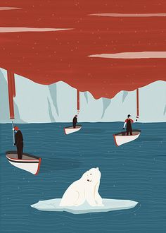 """Deleting the Arctic"" You can find the entire collection here ^_^ : www.facebook.com/RobertoCignaIllustration http://robertocigna.wix.com/graphicdesign http://www.agoodson.com/illustrator/roberto-cigna/ #illustration #illustrator #graphic #design #designer #graphicdesign #draw #drawing #art #posterart #editor #graphicdesigner #color"