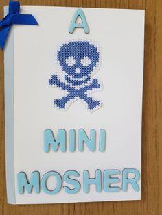 Handmade cross stitched 'mini mosher' baby  cards.  in Crafts, Needlecrafts & Yarn, Embroidery & Cross Stitch   eBay!