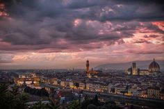 Вечерняя Флоренция, Италия