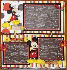mickey disney scrapbook