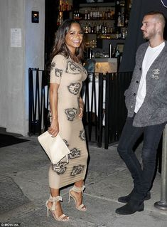 88a005e352 Christina Milian shows off her wild side as she flaunts fit figure