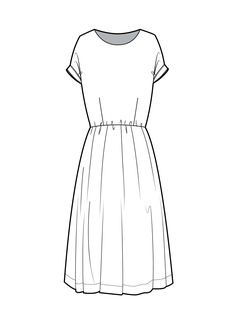 F f cocktail dress technical flat Fashion Design Drawings, Fashion Sketches, Clothing Sketches, Flat Drawings, Flat Sketches, Technical Drawings, Croquis Fashion, Fashion Figures, Illustration Mode