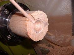 Efficient way to turn wooden scoop/spoon