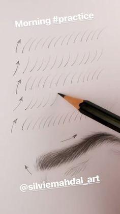 Augenbrauen # # Eyebrows # # How to fix eyebrows tutorNew makeup eyebrows MUST eyebrow tutor Pencil Art Drawings, Art Drawings Sketches, Cute Drawings, Horse Drawings, Art Illustrations, Animal Drawings, Drawing Techniques, Drawing Tips, Drawing Drawing
