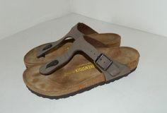 90de3efc361d Birkenstock Brown Leather Flip Flop Sandals Women s Size 6 Made in Germany   Birkenstock  FlipFlops